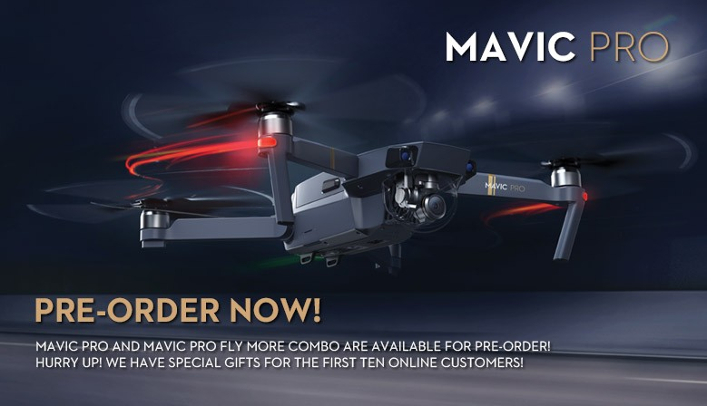 Preorder DJI Mavic Pro Now and get free gifts from COPTERS.EU
